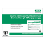 ALL - Domestic Electrical Installation Certificate - Small installations up to 100 A single phase supply - DCM18