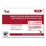 AC - Domestic Electrical Installation Certificate - Small installations up to 100 A single phase supply - DCN18