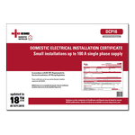 DIS - Domestic Electrical Installation Certificate - Small installations up to 100 A single phase supply - DCP18