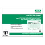 ALL - Continuation Sheet Schedules: Domestic Electrical Installation Certificate - small installations up to 100 A single phase supply & Domestic Electrical Installation Condition Reports - small installations up to 100 A single phase supply - DSM18