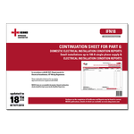 AC - Continuation Sheet for PART 6: Domestic Electrical Installation Condition Reports small installations up to 100 A single phase supply & Electrical Installation Condition Reports - IFN18