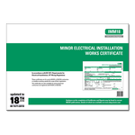 ALL - Minor Electrical Installation Works Certificate - IMM18