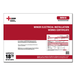 AC - Minor Electrical Installation Works Certificate Pads of 50 - IMN18