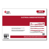 Electrical Danger Notification Certificates - XNP18
