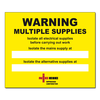 Approved Contractor NICEIC Dual Supply label (Reg 514.15.1) - WDS