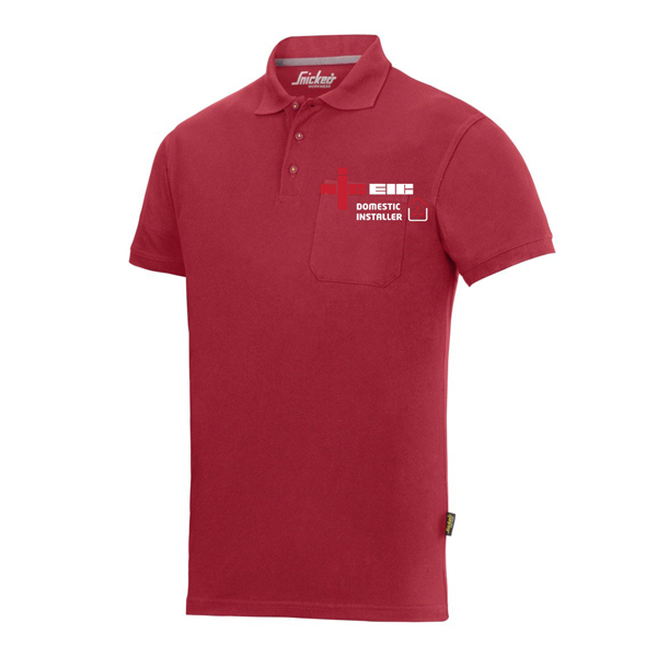 Red Polo Shirt Domestic Installer