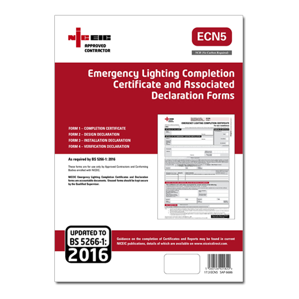 Ecn5 emergency lighting ecn5 for Emergency lighting test certificate template