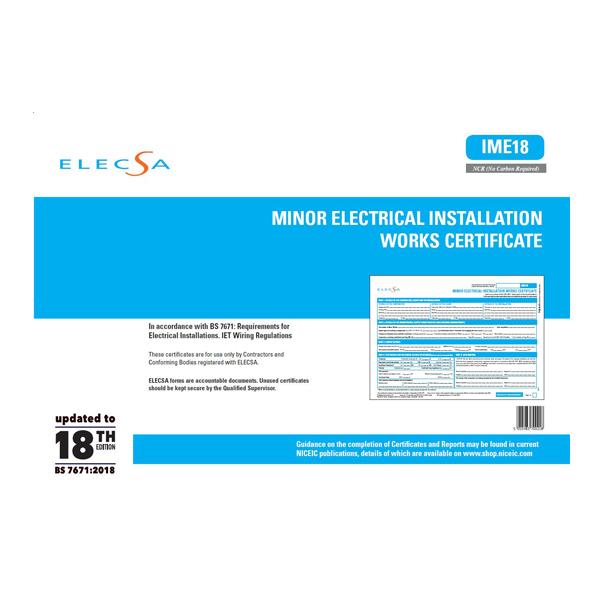 Minor Electrical Installation Works Cert