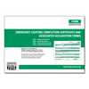 ALL - Emergency Lighting Completion Certificate and Associated Declaration Forms - ECM6
