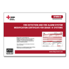 AC - Fire Detection and Alarm System Modification Certificate - FMN7